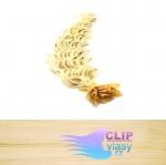 50 cm kudrnaté REMY vlasy k prodloužení keratinem - 0,5g nejsvětlejší blond #613