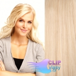 Clip in vlasy REMY 50cm - beach blond #613
