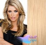 Clip in vlasy REMY 50cm - melír přírodní a světlejší blond #18/22