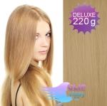 DELUXE Clip in vlasy REMY 50cm - přírodní blond #22