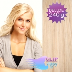 DELUXE Clip in vlasy REMY 60cm - beach blond #613