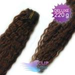 Kudrnaté DELUXE clip in vlasy REMY 50cm - tmavě hnědá #2