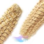 Kudrnaté clip in vlasy REMY 50cm - beach blond #613