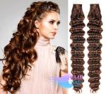 Kudrnaté tape in 60cm vlasy REMY - středně hnědá #4