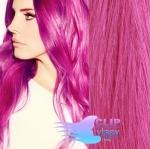 Tape in 60cm vlasy REMY - růžová
