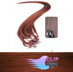60 cm REMY vlasy k prodloužení micro ring - 0,5g měděná #350