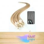 60 cm REMY vlasy k prodloužení micro ring - 0,7g přírodní blond #22
