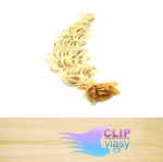 60 cm kudrnaté REMY vlasy k prodloužení keratinem - 0,5g nejsvětlejší blond #613