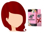 Barva na vlasy Crazy Color VERMILION RED 40 100 ml