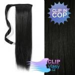Clip in cop 60 cm kanekalon - uhlově černá #1