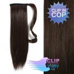 Clip in cop 60 cm kanekalon - tmavě hnědá #2