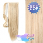 Clip in cop 60 cm kanekalon - nejsvětlejší blond #613