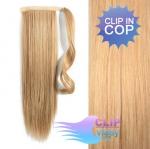 Clip in cop 60 cm kanekalon - melír přírodní a světlejší blond #18/22