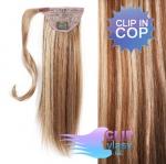 Clip in cop 50cm - melír beach blond a světle hnědá #6/613