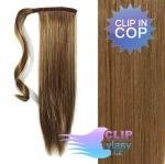 Clip in cop 50cm - popelavě hnědá #8