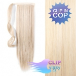 Clip in cop 50cm - platinově blond #60