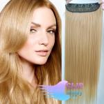 Clip in pás 60cm 100% japonský kanekalon - přírodní blond