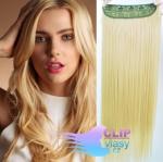 Clip in pás 60cm 100% japonský kanekalon - nejsvětlejší blond