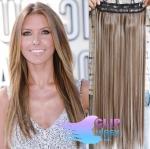 Clip in rychlopás 60cm 100% lidské vlasy - světlý melír