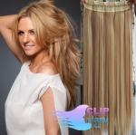 Clip in rychlopás 60cm 100% lidské vlasy - přírodní/světlejší blond