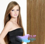 Clip in vlasy 40cm REMY - světle hnědá #12