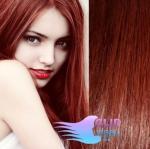 Clip in vlasy 40cm REMY - měděná #350