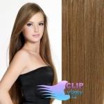 Clip in vlasy REMY - popelavě hnědá #8