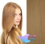 Clip in vlasy REMY - nejsvětlejší hnědá #18