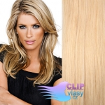 Clip in vlasy REMY 70cm - melír přírodní a světlejší blond #18/22