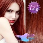 DELUXE 40cm clip in vlasy REMY - měděná #350