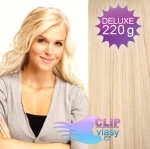 DELUXE Clip in vlasy REMY 50cm - beach blond #613
