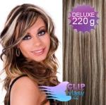 DELUXE Clip in vlasy REMY 50cm - melír blond a čokoládově hnědá #4/22