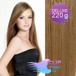 DELUXE Clip in vlasy REMY 50cm - světle hnědá #12