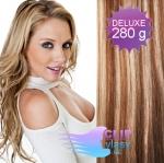DELUXE Clip in vlasy REMY 70cm - světlý melír #12/613