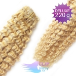 Kudrnaté DELUXE clip in vlasy REMY 50cm - beach blond #613