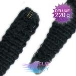 Kudrnaté DELUXE clip in vlasy REMY 50cm - uhlově černá #1