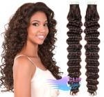 Kudrnaté tape in 60cm vlasy REMY - tmavě hnědá #2