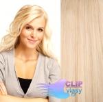 Tape in 60cm vlasy REMY - nejsvětlejší blond #613