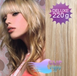 Vlnité DELUXE clip in vlasy REMY 50cm - melír platina/světle hnědá #60/16