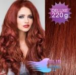 Vlnité DELUXE clip in vlasy REMY 50cm - měděná #350