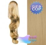 Vlnitý clip in cop 60 cm - přírodní blond #22
