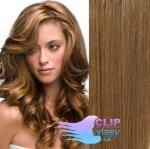 Vlnité clip in vlasy REMY 50cm - světle hnědá #12