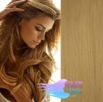 Vlnité clip in vlasy REMY 50cm - přírodní blond #22