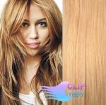 Vlnité clip in vlasy REMY 50cm - melír přírodní a světlejší blond #18/22