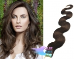 Vlnité tape in 60cm vlasy REMY - tmavě hnědá #2