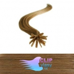 50 cm REMY vlasy k prodloužení metodou keratin - 0,5g světle hnědá #12