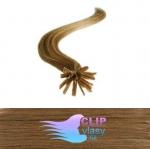 50 cm REMY vlasy k prodloužení metodou keratin - 0,7g světle hnědá #12
