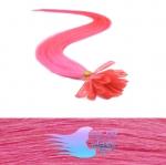 50 cm REMY vlasy k prodloužení metodou keratin - 0,5g růžová