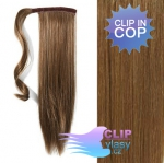 Clip in cop 60 cm - světle hnědá #12