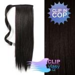 Clip in cop 60 cm kanekalon - přírodní černá #1b